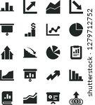 solid black vector icon set  ... | Shutterstock .eps vector #1279712752