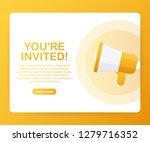 megaphone hand  business... | Shutterstock .eps vector #1279716352