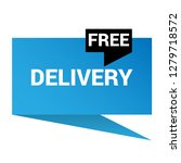 free delivery sign speech...