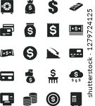 solid black vector icon set  ... | Shutterstock .eps vector #1279724125