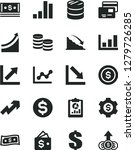 solid black vector icon set  ... | Shutterstock .eps vector #1279726285