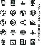 solid black vector icon set  ... | Shutterstock .eps vector #1279727092