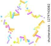 sprinkles grainy. sweet... | Shutterstock .eps vector #1279743082