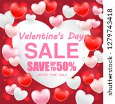valentines day shopping sale... | Shutterstock .eps vector #1279743418