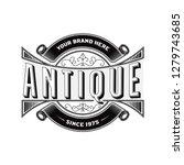 vintage emblem vector | Shutterstock .eps vector #1279743685