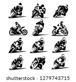 Motorcycle Racer Vector Set Ep...
