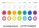 vector illustration of chakras... | Shutterstock .eps vector #1279743805