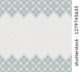 seamless border vector ornate... | Shutterstock .eps vector #1279745635