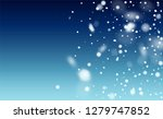 realistic snow background.... | Shutterstock .eps vector #1279747852