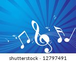 abstract music notes vector...   Shutterstock .eps vector #12797491
