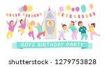illustration of boys birthday... | Shutterstock . vector #1279753828
