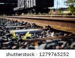 closeup view of railway tracks... | Shutterstock . vector #1279765252