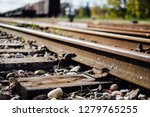 closeup view of railway tracks... | Shutterstock . vector #1279765255
