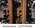 closeup view of railway tracks... | Shutterstock . vector #1279765282