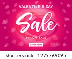 valentines day sale background... | Shutterstock .eps vector #1279769095