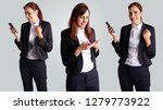 collage of business woman... | Shutterstock . vector #1279773922