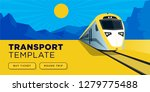 flat style train web page design | Shutterstock .eps vector #1279775488