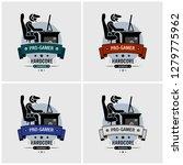 pro gamer esports logo design.... | Shutterstock .eps vector #1279775962