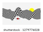 black and white design. pattern ... | Shutterstock .eps vector #1279776028