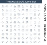 100 medical icons. trendy... | Shutterstock .eps vector #1279776802
