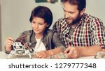 bearded father and son... | Shutterstock . vector #1279777348
