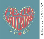 be my valentine typography in... | Shutterstock .eps vector #1279777792