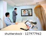 business people attending... | Shutterstock . vector #127977962