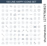 happy icons. trendy 100 happy... | Shutterstock .eps vector #1279780825