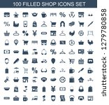 100 shop icons. trendy shop... | Shutterstock .eps vector #1279780858