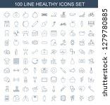 healthy icons. trendy 100... | Shutterstock .eps vector #1279780885