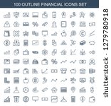 financial icons. trendy 100... | Shutterstock .eps vector #1279780918