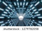 illuminated corridor tunnel... | Shutterstock . vector #1279782058
