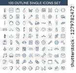single icons. trendy 100 single ... | Shutterstock .eps vector #1279782472