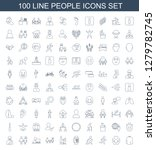 people icons. trendy 100 people ... | Shutterstock .eps vector #1279782745