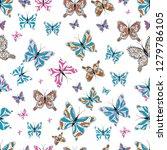 endless. cute girly seamless... | Shutterstock .eps vector #1279786105