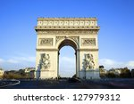 horizontal view of famous arc... | Shutterstock . vector #127979312