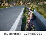 Flowers Memorial Symbol In An...