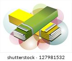 chewing gum isolated   vector... | Shutterstock .eps vector #127981532