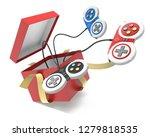 video games controller popping... | Shutterstock . vector #1279818535