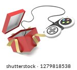 video game controller popping... | Shutterstock . vector #1279818538