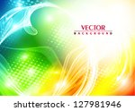 abstract bright colorful card.... | Shutterstock .eps vector #127981946