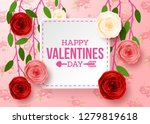 valentines day greeting card... | Shutterstock .eps vector #1279819618