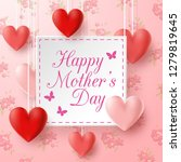happy mother's day with flowers ... | Shutterstock .eps vector #1279819645