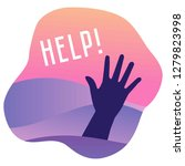 hand of drowning man needing... | Shutterstock .eps vector #1279823998
