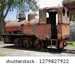 relics of the old train used to ... | Shutterstock . vector #1279827922