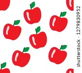 apple seamless pattern fruit... | Shutterstock .eps vector #1279830952