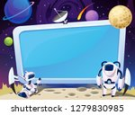 cartoon space background with... | Shutterstock .eps vector #1279830985