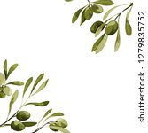 vector corners with olive tree... | Shutterstock .eps vector #1279835752