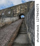 narrow uneven cement stairs... | Shutterstock . vector #1279840075