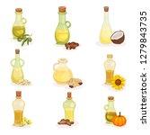 flat vector set of glass... | Shutterstock .eps vector #1279843735